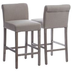Cosmopolitan Beige Linen Counter Stools (Set of 2) - Free Shipping Today - Overstock.com - 15937276 - Mobile