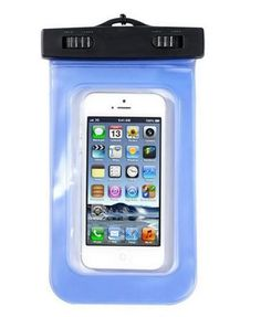 Indo Dealz Waterproof Pouch Biru untuk Handphone MP3 Digital Camera