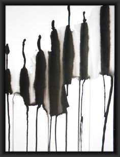 A3 OOAK Zen Black and White Ink Wash Painting by Manjuzaka on Etsy