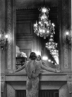 #vintage #mirror #black and white #photography #infinite recursion