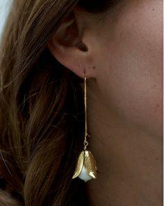 Gyspy White Earrings