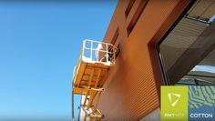 Insuflat de façana d'una nau industrial amb NITA-COTTON