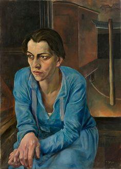 Rudolf Schlichter (German, 1890-1955), Portrait of Helene Weigel, oil/canvas, 1928. Helene Weigel (1900-1971) was a German actress and artistic director.