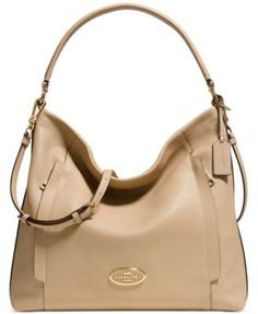 COACH LARGE SCOUT HOBO IN PEBBLE LEATHER | macys.com