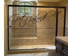 Bathroom Decal Get Naked Bathroom Wall Decal by RoyceLaneCreations, $10.00