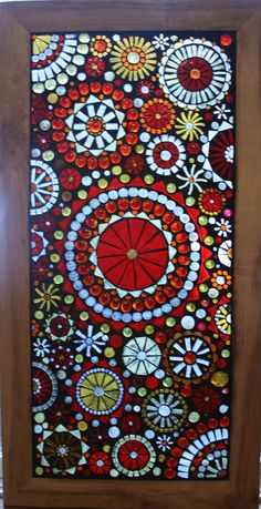 Mosaic Window Panel Beautiful reds golds and by lowlightcreations,