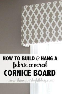 DIY Cornice Board