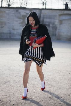 Fotos de street style en Paris Fashion Week: Tiffany Hsu