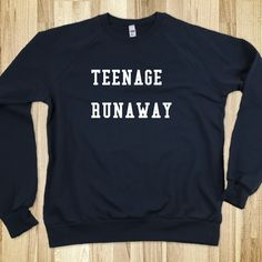 COOL Teenage Runaway Sweater as seen on 1D One Direction Harry Styles, great gift or fun shirt. $19.99, via Etsy.