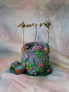 120 Easy And Simply To Try DIY Polymer Clay Fairy Garden Ideas. Polymer clay is a clay like material made from polyvinyl chloride (PVC), plasticizer and pigment. Polymer Clay Kunst, Polymer Clay Fairy, Fimo Clay, Polymer Clay Projects, Polymer Clay Creations, Clay Fairy House, Fairy Houses, Clay Fairies, Fairy Crafts