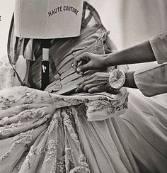 """Atelier couture, sewing, Fashion atelier, """"Les Journées Particulières"""" exhibition Dior Haute Couture"""