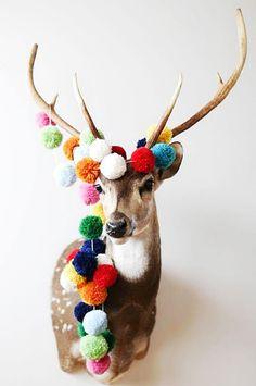 pompoms on a deer!