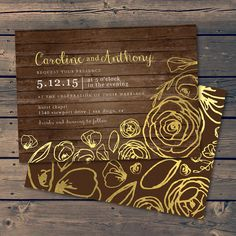 Whimsical Wood / Wedding Invitation by PixelPaperStationery