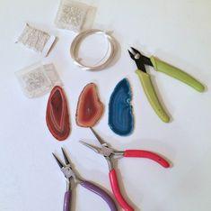 DIY Wire Wrapped Agate Slice Tutorial — WENDY LUIZ