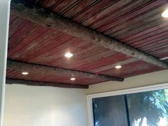 Old Barn Wood Ceilings | old barn wood on the ceiling. this is for erin. | DIY