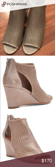 """Donald Pliner wedges Brand new! Currently retail for $200+ on the website. Sold out in most sizes. Received as a gift but not my style. Never worn. Perfect condition. The style is """"Jace"""" and the color is beige Donald J. Pliner Shoes Wedges"""