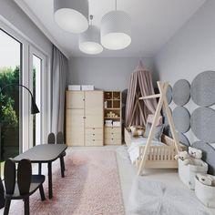 """Ola Wołczyk on Instagram: """"Pokój Zuli dla mojego @mroomy_pokoje_dzieci_online  #projektowaniewnetrz #projektmieszkania #pokojdziecka #pokojdziewczynki #pokojdziecięcy…"""" Loft, Kids Rugs, Rooms, Display, Instagram, Bed, Furniture, Home Decor, Bedrooms"""