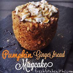 Pumpkin Gingerbread Mug Cake