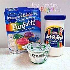 3 Ingredient Funfetti Dip