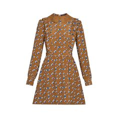 Products by Louis Vuitton: Long Sleeved Dress With Embroidered Collar And Frill Detail High Fashion Dresses, Casual Dresses, Louis Vuitton Dress, Classy Outfits, Fall Outfits, Ladies Dress Design, Dress Collection, Designer Dresses, Ready To Wear