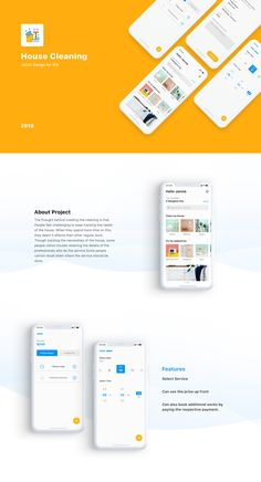 House Cleaning iOS App – Micro Interaction on Behance - Design App Ui Design, Mobile App Design, Web Design Company, Mobile Ui, Wireframe Design, Poster Design App, Ios App, House Cleaning App, Web Design Basics