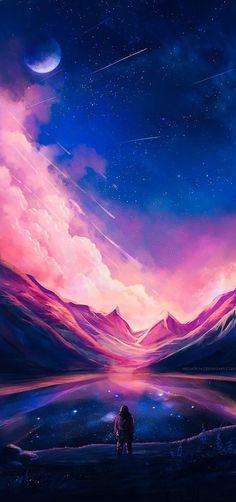 landscapes scenery digital art by niken anindita is part of Animation art - Landscapes & Scenery Digital Art by Niken Anindita Digitalart Space Fantasy Kunst, Fantasy Art, Dream Fantasy, Dream Art, Unicorn Fantasy, Digital Art Fantasy, Fantasy Landscape, Landscape Art, Anime Scenery