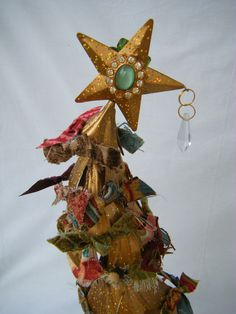 Whimsical Metal Glitter Christmas Tree. , via Etsy.