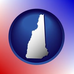 State of New Hampshire map icon.