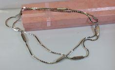 Vintage Halsschmuck - Halskette Silber 925 Gliederkette 50er Jahre SK538 - ein Designerstück von Atelier-Regina bei DaWanda