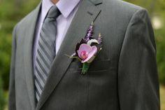 Groom Boutonnierre -  Elegant Outdoor Garden Wedding Ceremony in Virginia: Jessica + Jason