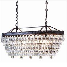 Shop allen + roth Eberline 11.81-in 4-Light Bronze Crystal Standard Chandelier at Lowes.com