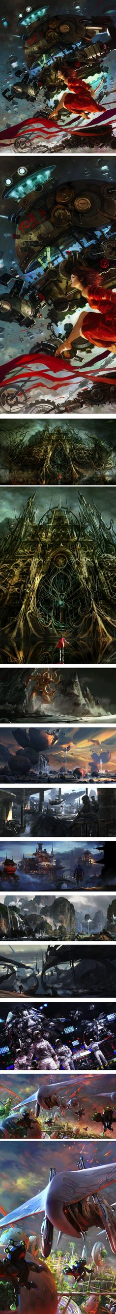 Yap Kun Rong, concept art and illustration