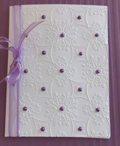 Daily Grace Creations: Two Variations of the Same Card Handmade Greeting Card Designs, Hand Made Greeting Cards, Homemade Birthday Cards, Homemade Cards, Purple Cards, Anna Griffin Cards, Embossed Cards, Scrapbook Cards, Scrapbooking
