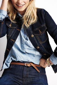 Amazing Canadian Tuxedo Look / Le tuxedo canadien fait toujours fureur!  #CanadianTuxedo #DenimOnDenim #BlueJeans #Jeans #ReitmansJeans
