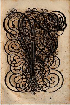 Serious Germanic lettering: Paulus Franck - 'Schatzkammer Allerhand Versalien Lateinisch vnnd Teutsch', 1601 alphabet m by peacay, via Flickr
