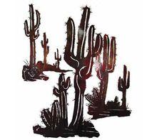 Southwestern Metal Wall Art | Saguaro Cactus Steel Art Set B (Includes E, F, & G)