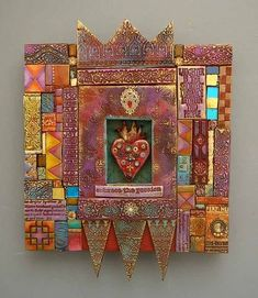 Another delicious piece by #LaurieMika #mosaic #mixedmedia