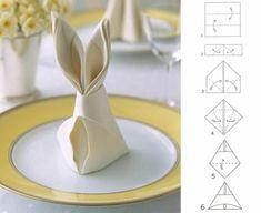 Servietten falten - Tischdeko mit einfachen Falttechniken basteln