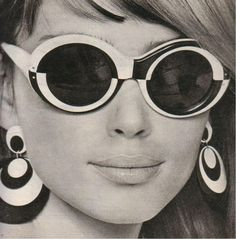 1960s-210op-art-sunglasses-earrings | 1960s Sunglasses, Vintage Sunglasses, Sunglasses Outlet, Ray Ban Sunglasses 2016, White Sunglasses, Sports Sunglasses, Cheap Sunglasses, 1960s Fashion, Mad Men Fashion