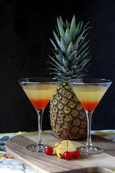 Bikini Martini with coconut rum,vodka, pineapple juice and grenadine