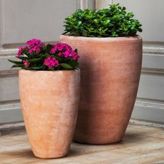 Campania International Abrielle Planter - Set of 2 - Terra Cotta | Hayneedle