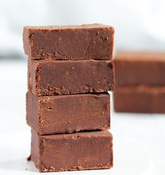 5 Ingredient Healthy Chocolate Fudge. It MELTS in your mouth!  http://chocolatecoveredkatie.com/2011/01/31/sugar-free-chocolate-fudge/