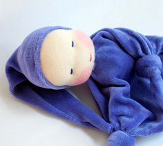 Ready to ship 10 inch Waldorf Toy Little Purple by germandolls, $35.00