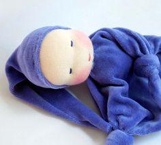 Ready to ship 10 inch Waldorf Toy Little Purple by germandolls, $35.00