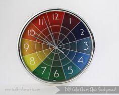 Free printable // Color Chart Clock : Teal Bird Concepts