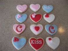 not cakes...cookies I made for V-Day :)