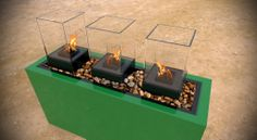 Aberdeen Cell Micro Fireburner X X Wine Glass Holder, Wine Bottle Holders, Chariots Of Fire, Front Entrances, Outdoor Planters, Natural Glow, Custom Wall, Aberdeen, Fire Pits