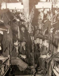 Inside a German U-Boat - this kind of confined living over such long periods of time would have been a nightmare.