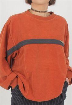 Burnt Orange Vintage Adidas Sweatshirt from ASOS Marketplace 90s Fashion, Fashion Outfits, Style Fashion, Fashion Women, Vintage Outfits, Vintage Fashion, Vintage Adidas, Aesthetic Fashion, Adidas Women