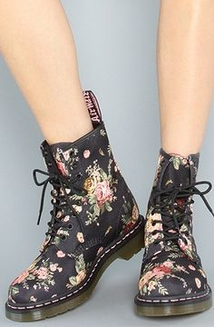 The Victoria Flower 1460 Boot by Dr. Martens | Karmaloop.com - Global Concrete Culture - StyleSays